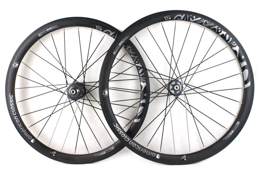 American Classic Carbon 40 Track Clincher Wielenset