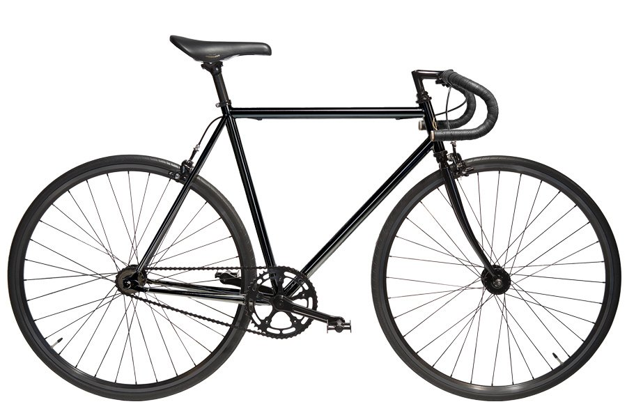 Jitensha Black/Black/Black Single Speed Fiets