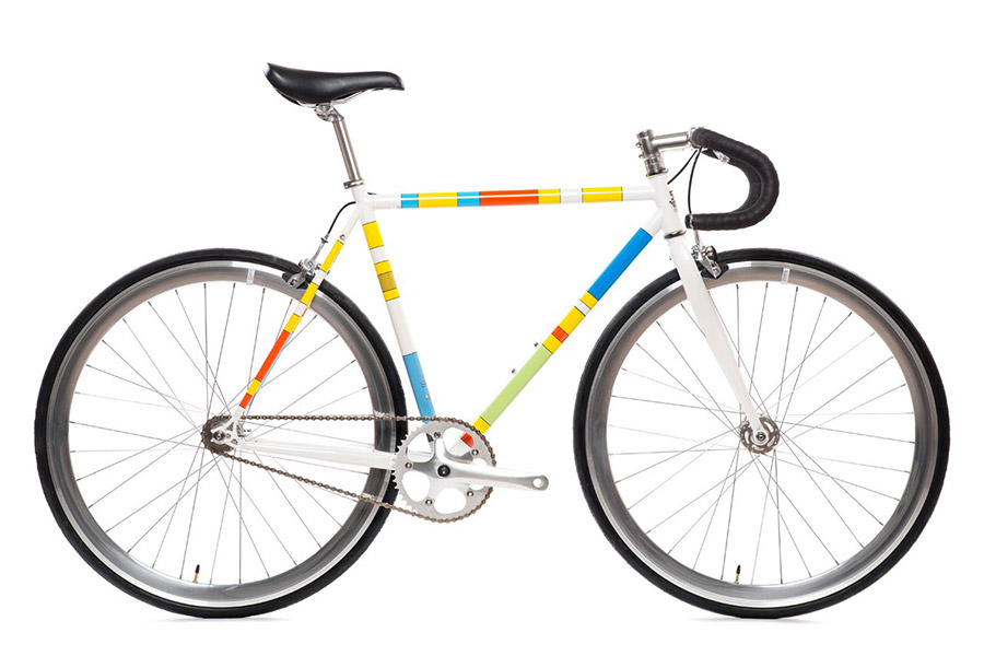 State X The Simpsons - Color Block Fixie Fiets