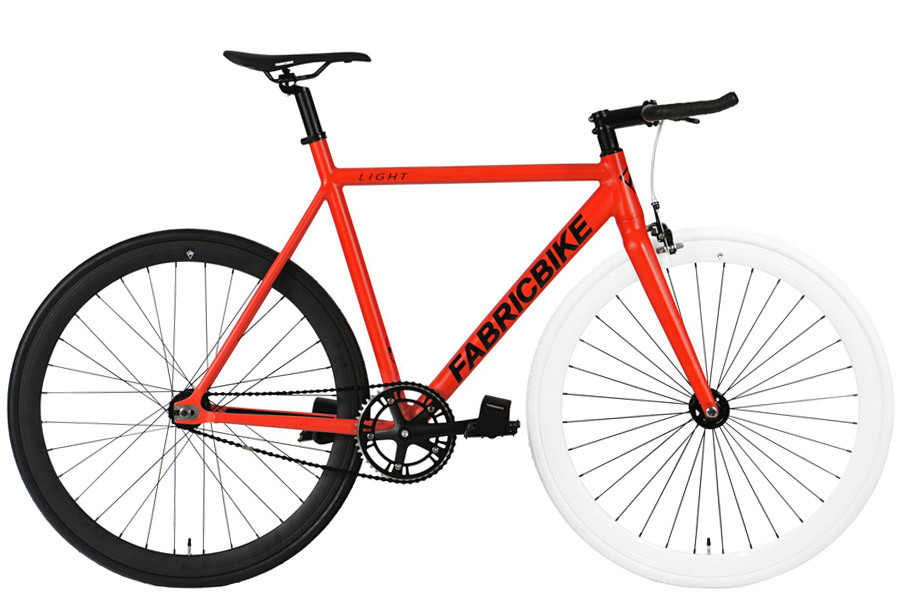 Fixie Fiets FabricBike Light Red & White