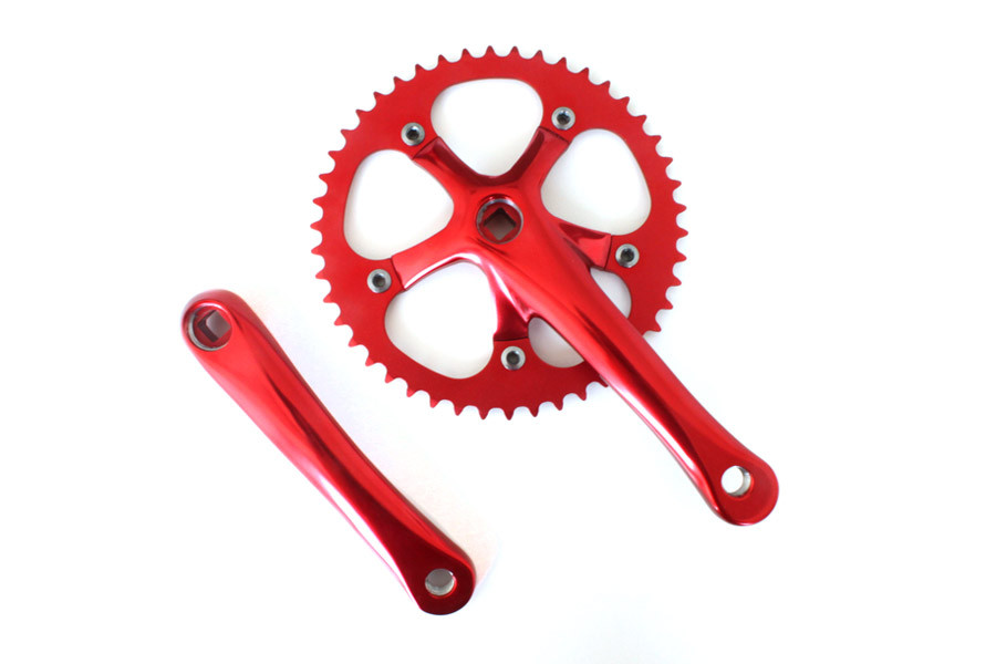 Mighty Crankset 165mm 46t - Rood