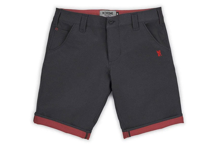 Chrome Industries Natoma Fietsshorts - Black/Brick