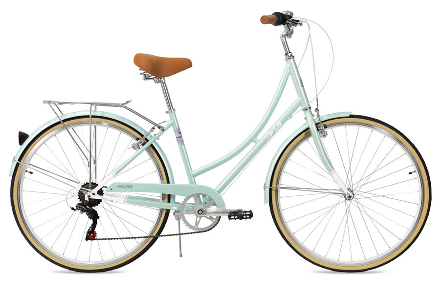FabricBike Step-City 7-Versnellingen Stadsfiets - Mint Green