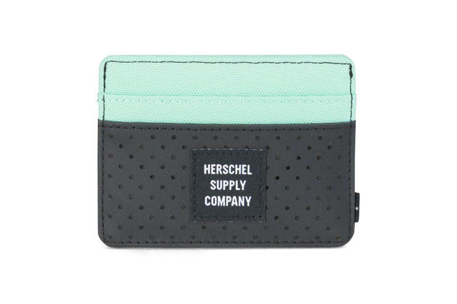 Herschel Charlie Pasjeshouder - Black/Lucite Green/RFID - Aspect Collection