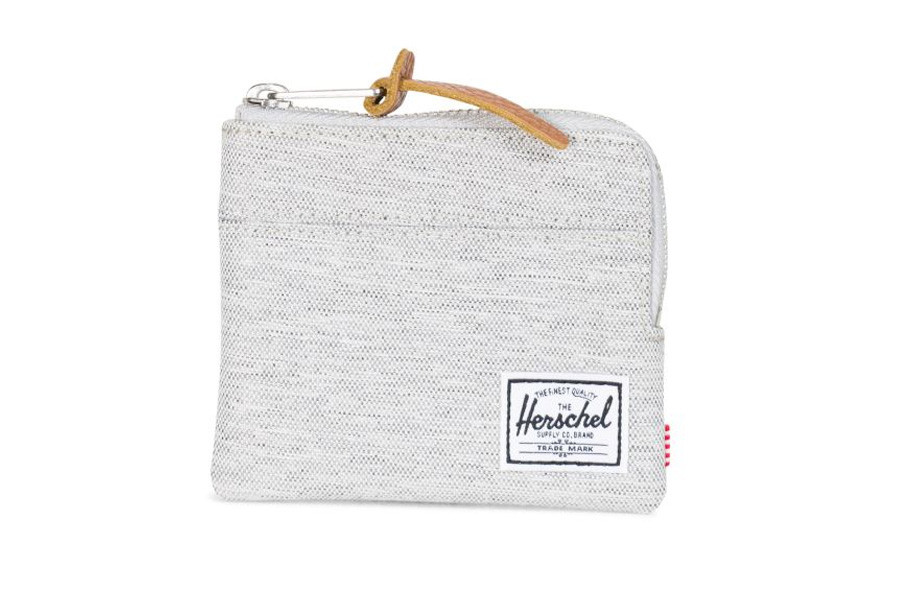 Herschel Johnny Portemonnee - Light Grey Crosshatch