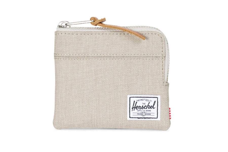 Herschel Johnny Portemonnee - Light Khaki Crosshatch