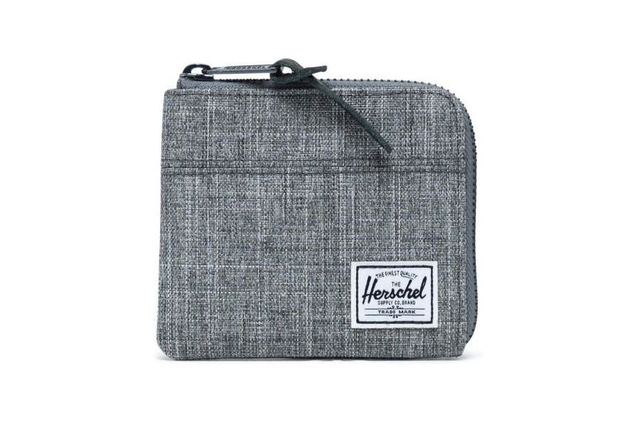 Herschel Johnny Portemonnee - Raven Crosshatch