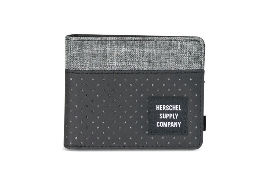 Herschel Roy Portefeuille - Black/Raven Crosshatch - Aspect Collection
