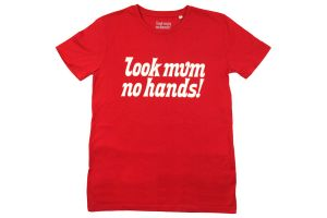 Look Mum No Hands! T-shirt Rood/Wit