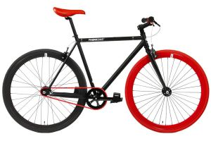 Fixie Fiets FabricBike Matte Black & Red 3.0