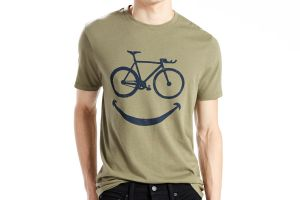 Levi's Commuter Drop Hem Tee Happy Bike