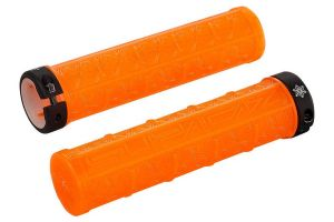Supacaz Grizips Clear Stuur handvaten – Orange