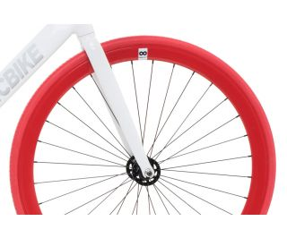 Track Fiets Fabric Air+ Wit & Rood
