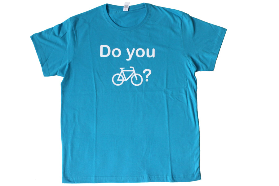 Bike Me Up Heren T-Shirt - Blauw