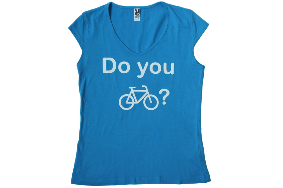 Bike Me Up Dames T-shirt - Blauw