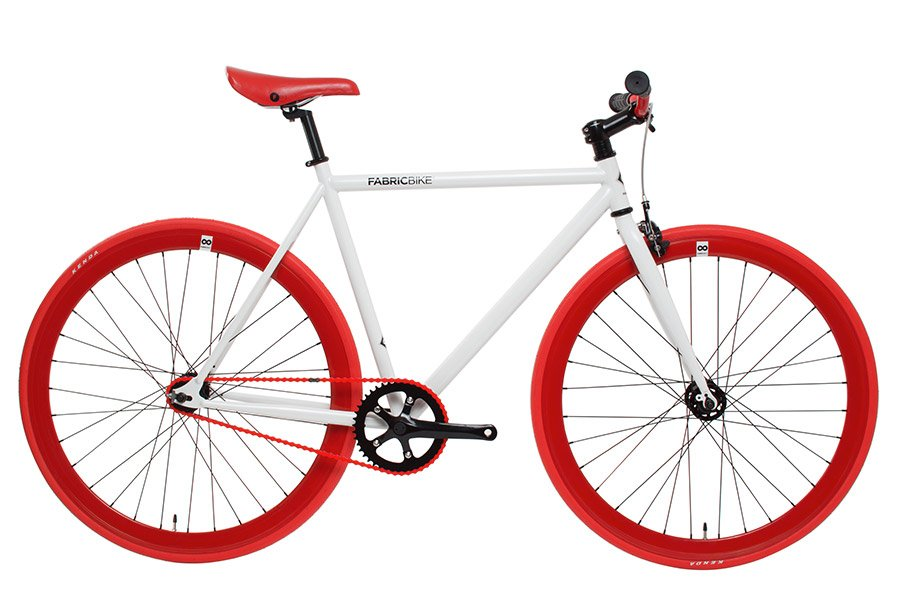 Fixie Fiets FabricBike Wit & Rood