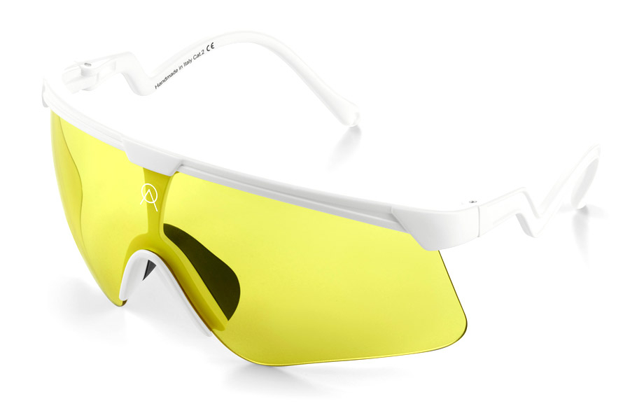 Bril Alba Optics Delta Banana - Wit