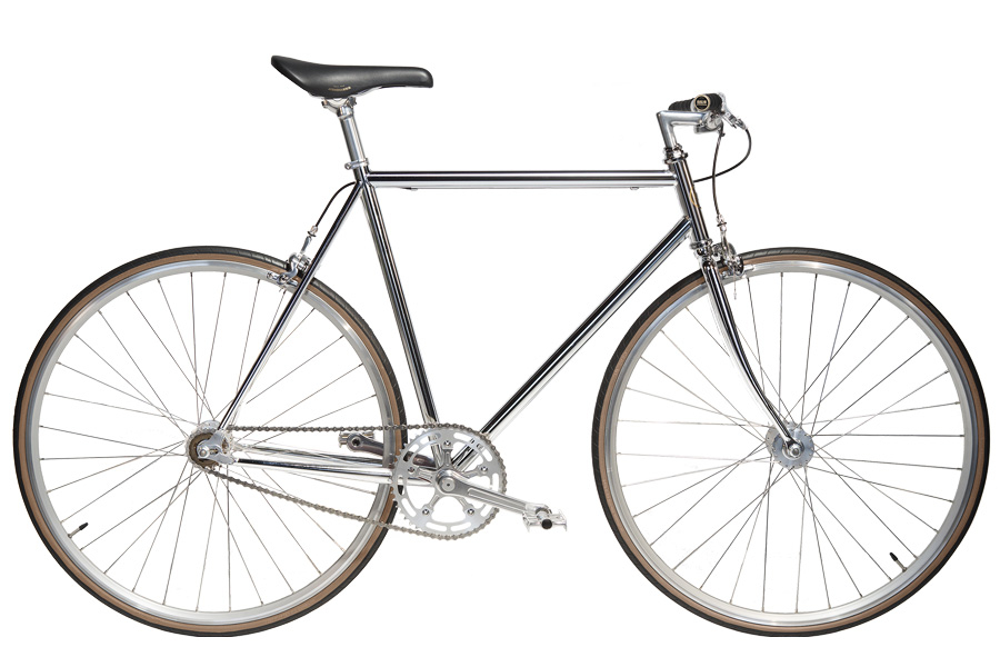 Jitensha Chrome/Alu/Black Single Speed Fiets
