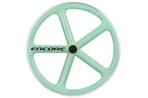 Encore 5 Spaak Voorwiel - Carbon Weave - Celeste