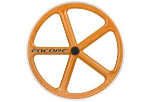 Encore 5 Spaak Voorwiel - Carbon Weave - Oranje