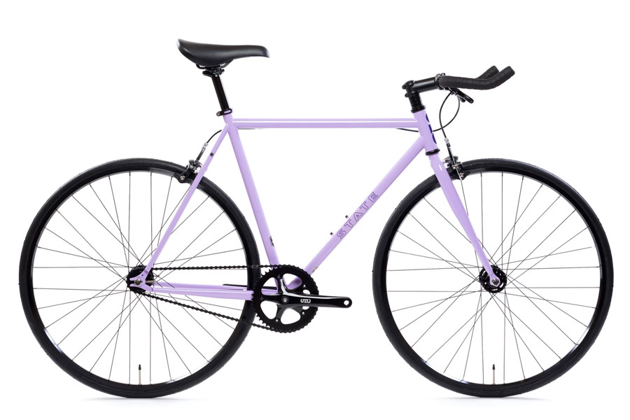 State Bicycle Co. Perplexing Purple Fixie Fiets